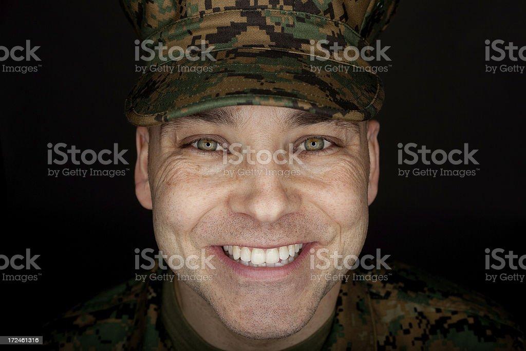 Smiling Marine Headshot royalty-free stock photo