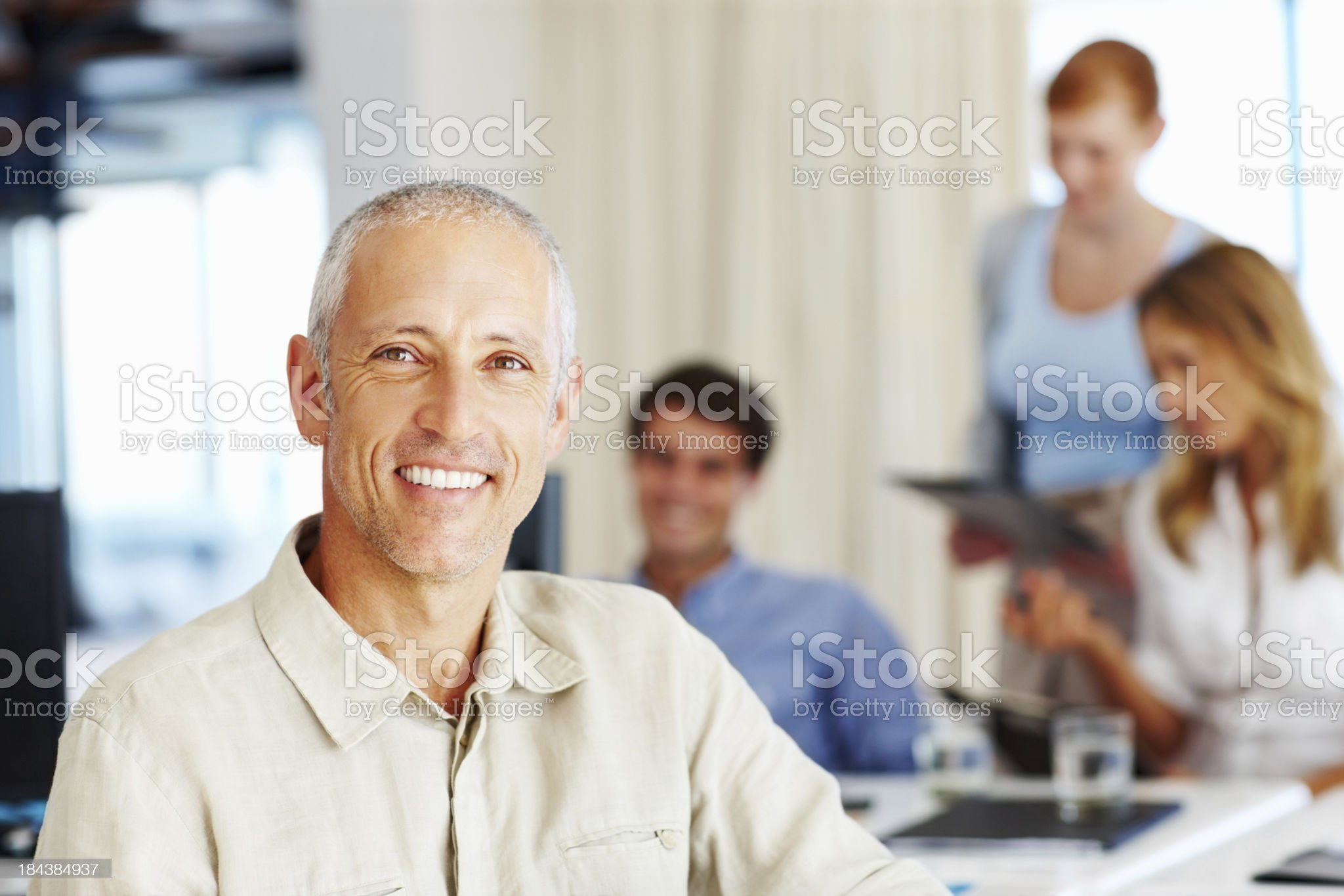 Smiling mature business man royalty-free stock photo