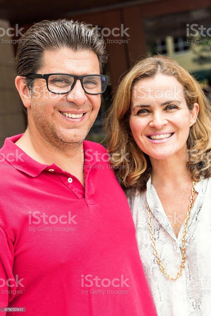 Smiling mature couple stock photo