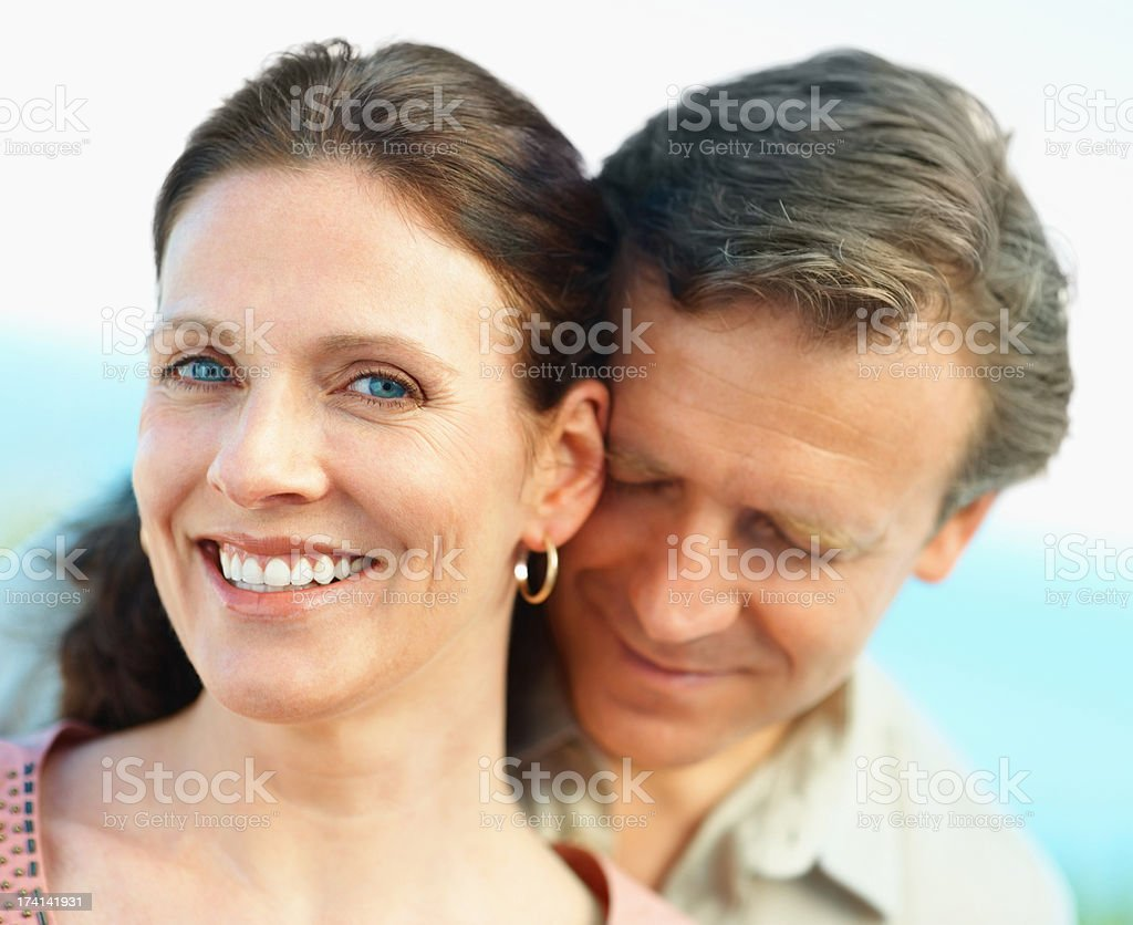 Smiling mature couple spending time together stock photo