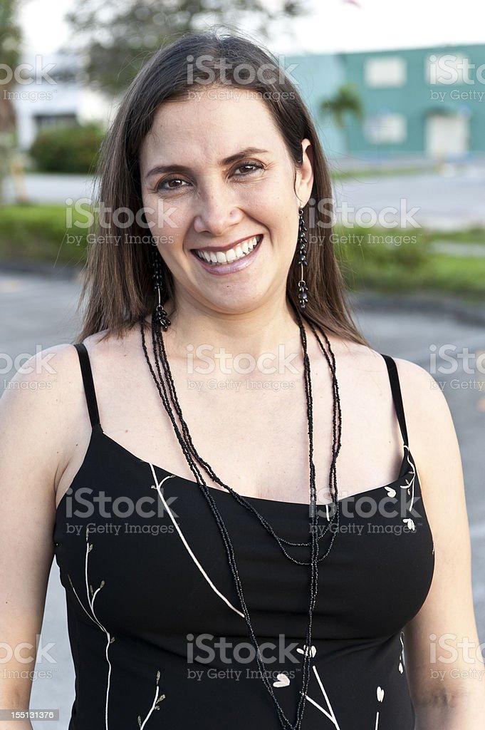 Smiling Mature Hispanic Woman (real people) royalty-free stock photo