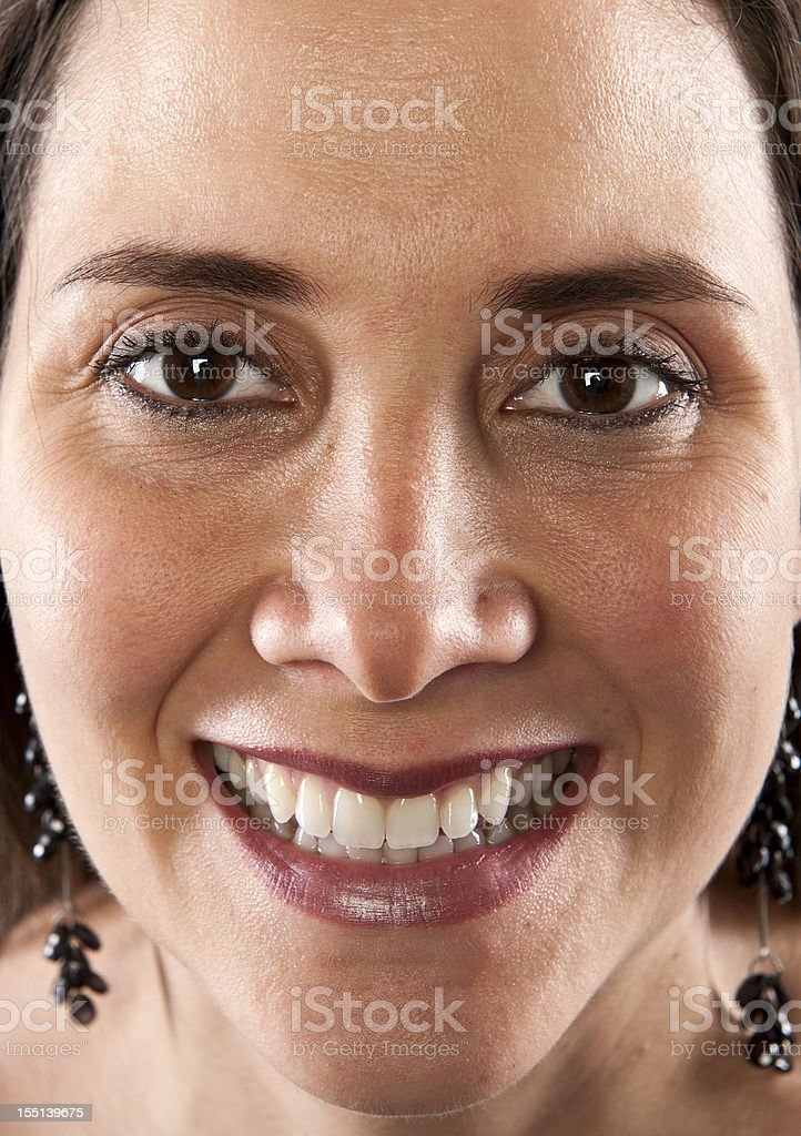 Smiling Mature Hispanic Woman (real people) royalty-free stock photo