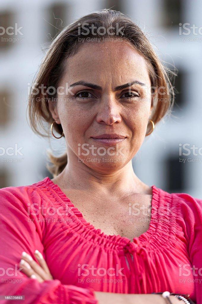 Smiling Mature Hispanic Woman royalty-free stock photo
