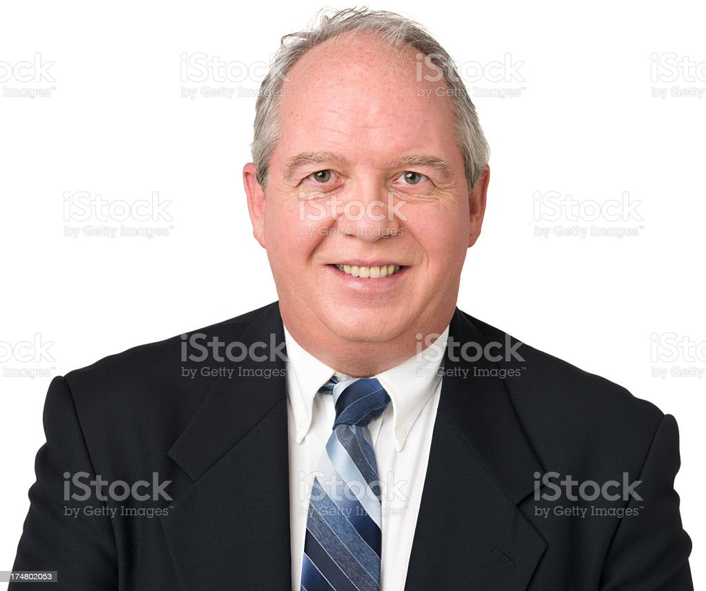 Smiling Mature Man In Suit And Tie royalty-free stock photo