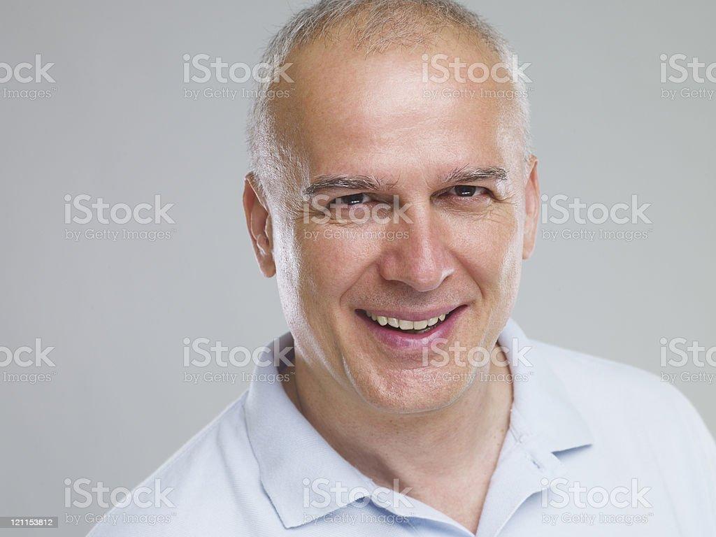 smiling mature man royalty-free stock photo