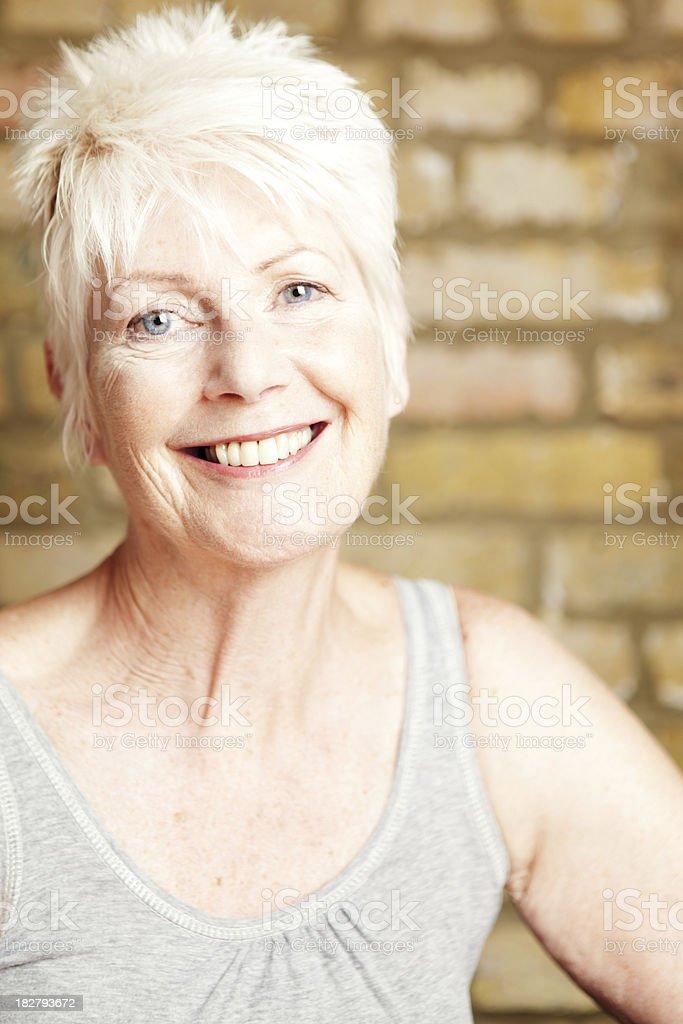 Smiling Mature Woman stock photo