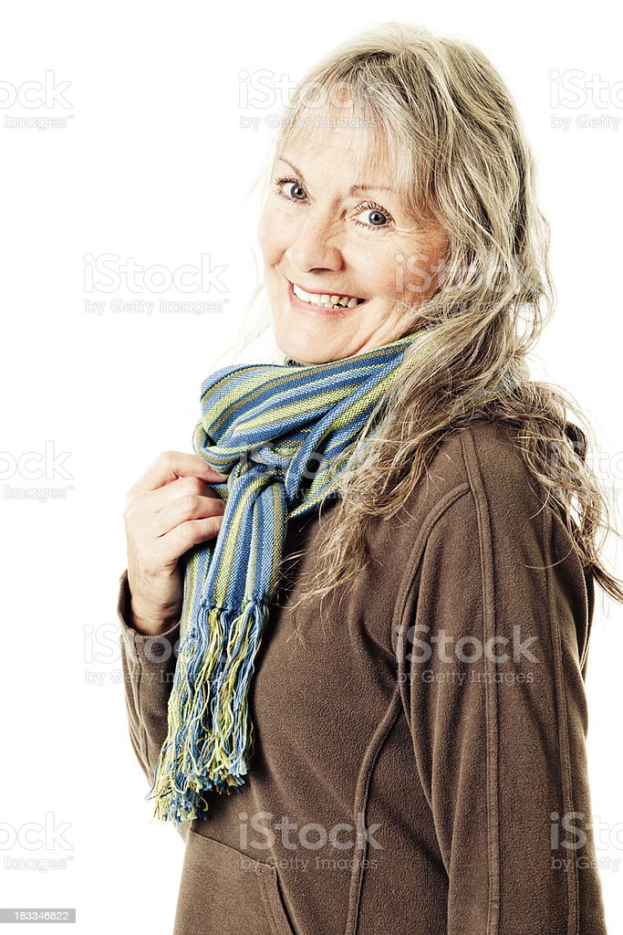 Smiling mature woman royalty-free stock photo