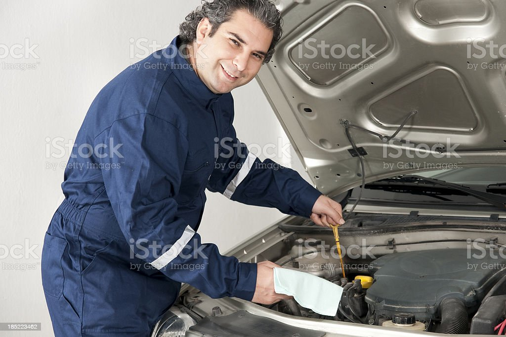 Smiling Mechanic royalty-free stock photo