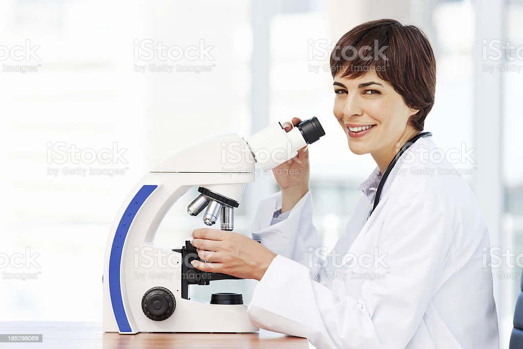 Smiling Medical Research Woman royalty-free stock photo