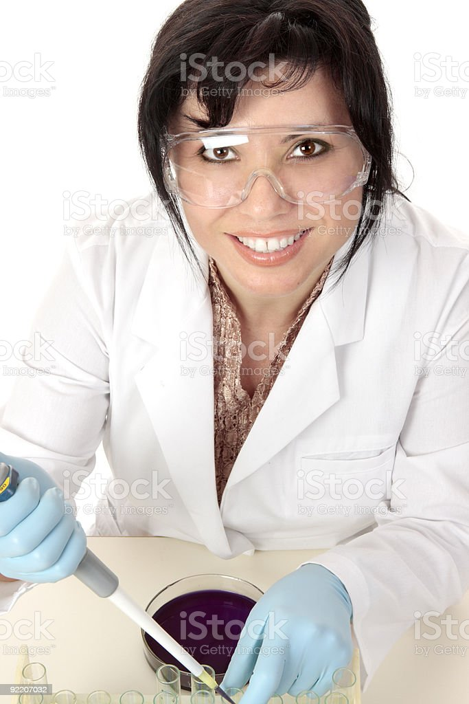 Smiling medical researcher royalty-free stock photo