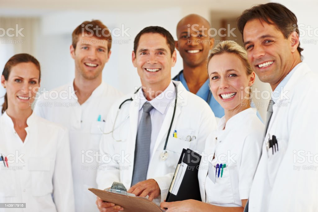 Smiling medical team royalty-free stock photo