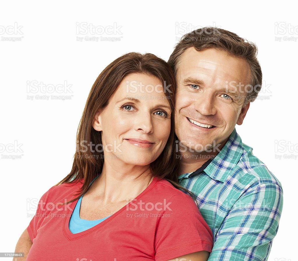Smiling Mid Adult Couple - Isolated stock photo