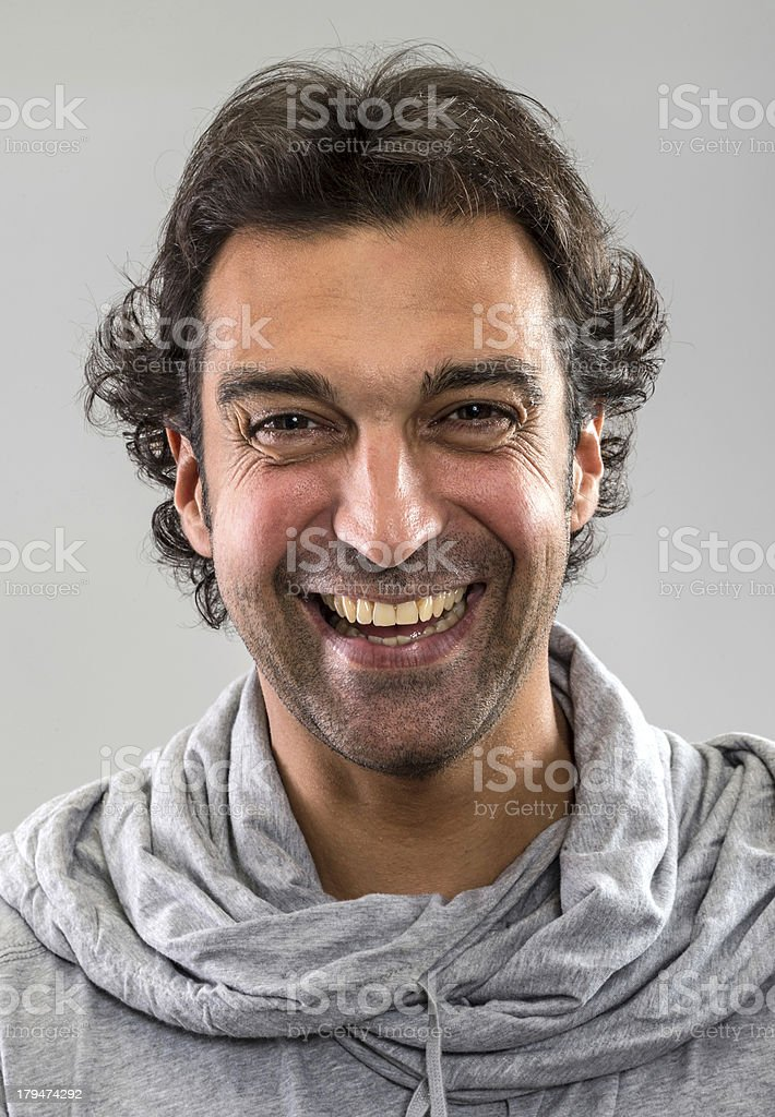 Smiling mid adult man royalty-free stock photo