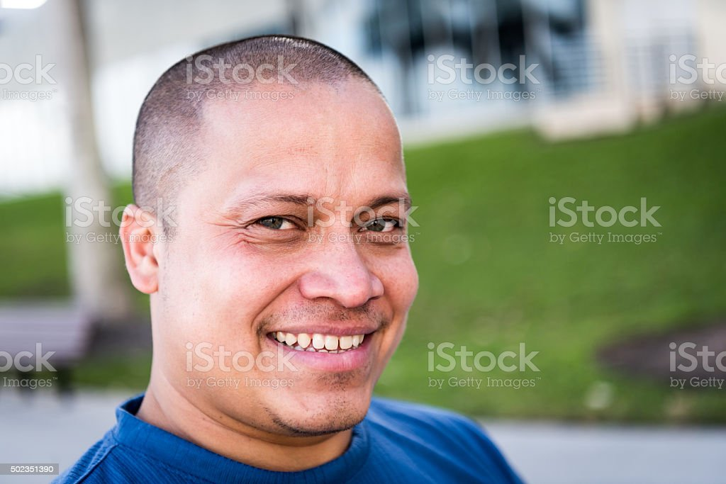 Smiling Mid adult man stock photo