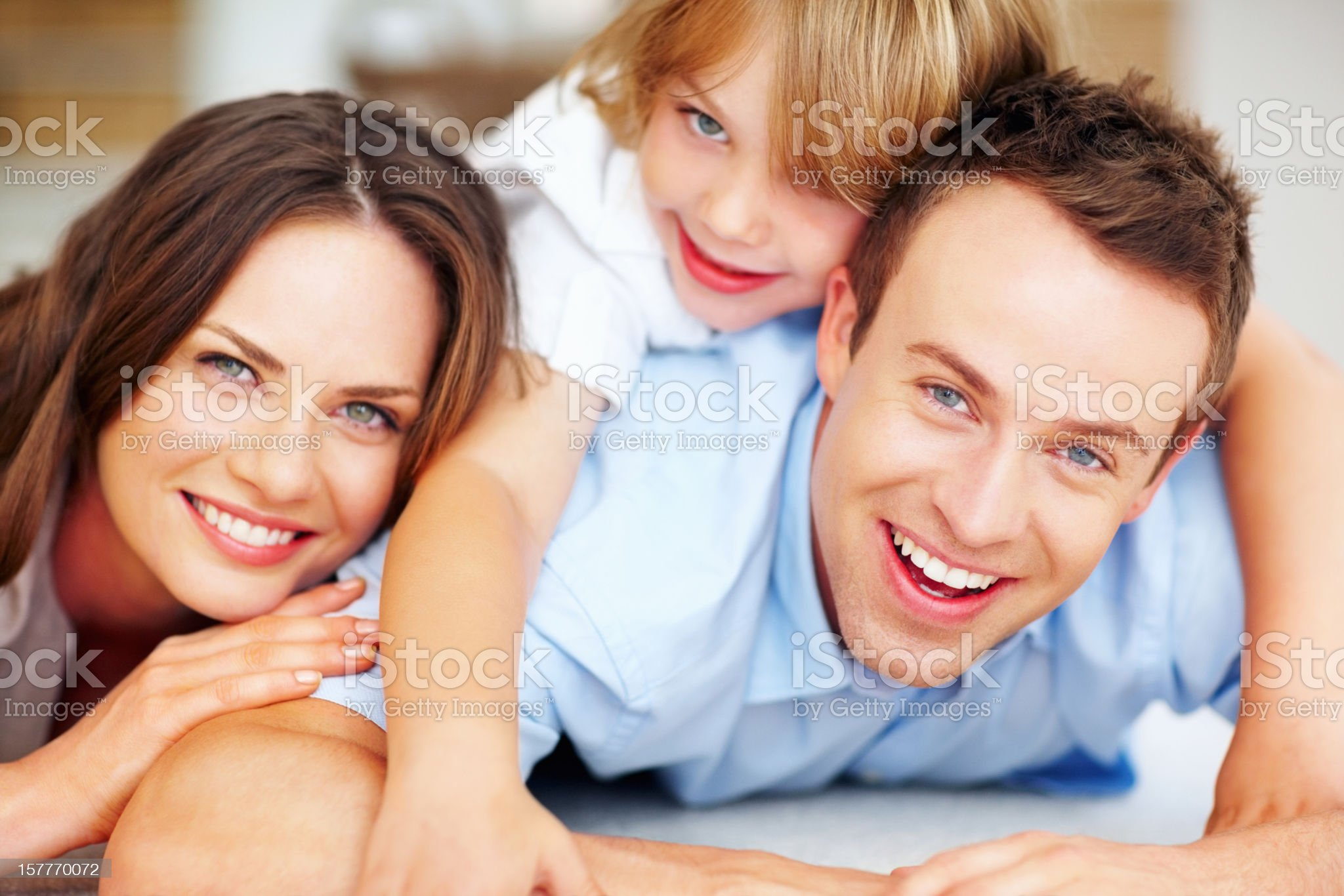 Smiling middle aged man with his family royalty-free stock photo