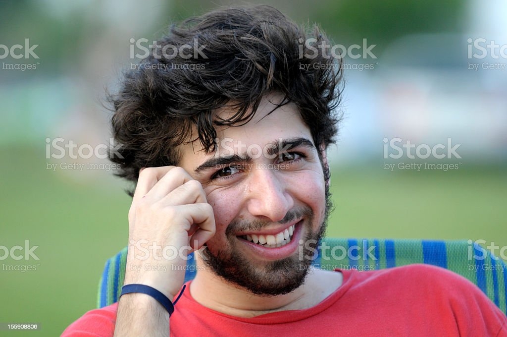 Smiling Middle Eastern College Student stock photo