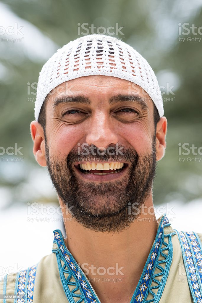 Smiling Middle eastern man stock photo