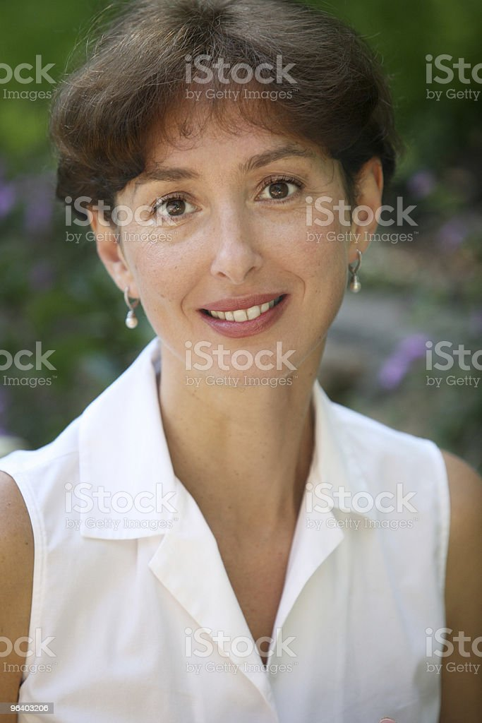 Smiling middleage woman royalty-free stock photo