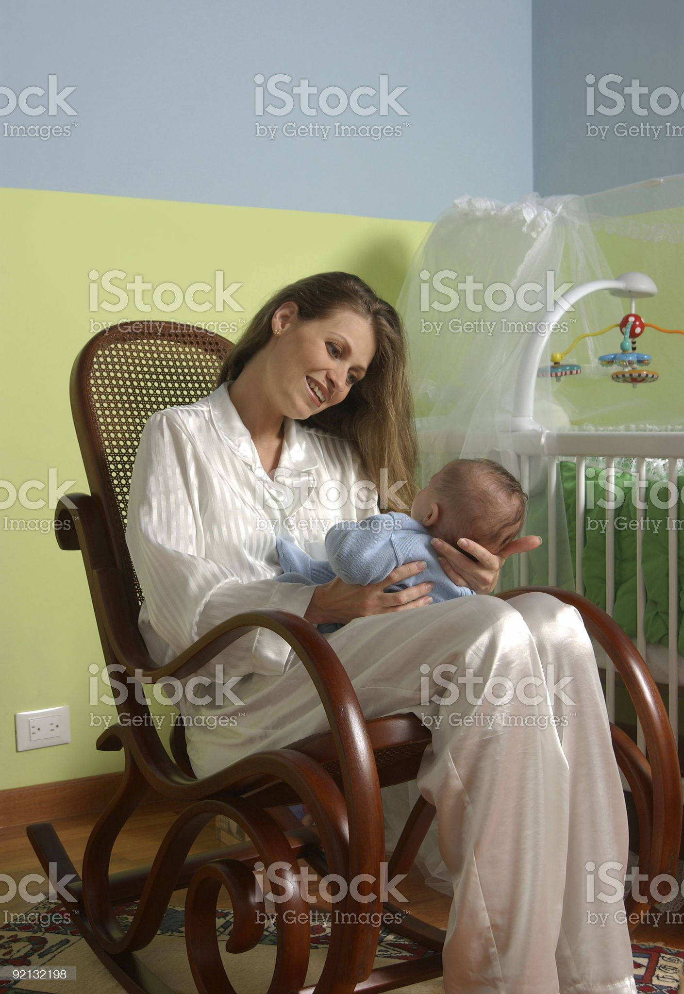 Smiling mom and baby royalty-free stock photo