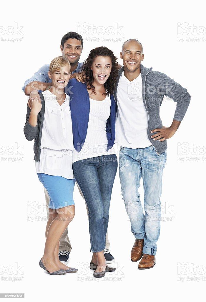 Smiling multi ethnic team royalty-free stock photo