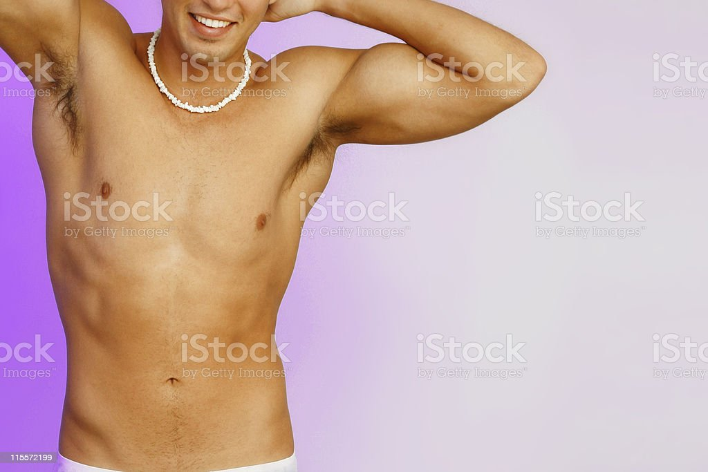 Smiling Muscle royalty-free stock photo