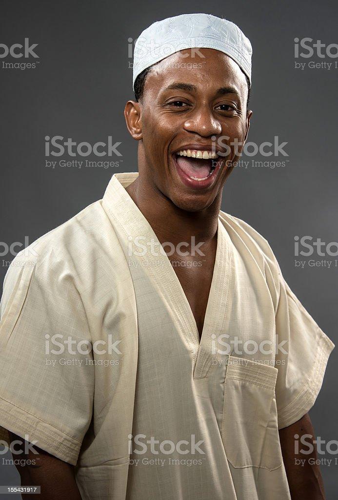 Smiling Muslim Man royalty-free stock photo
