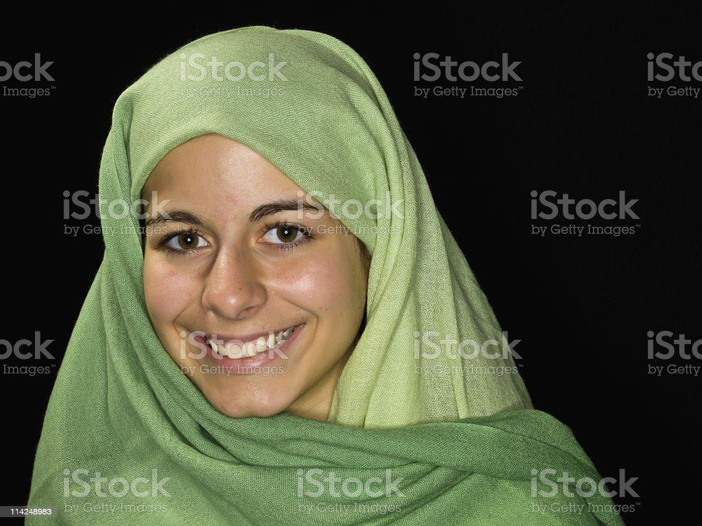 Smiling Muslim Teenage girl stock photo