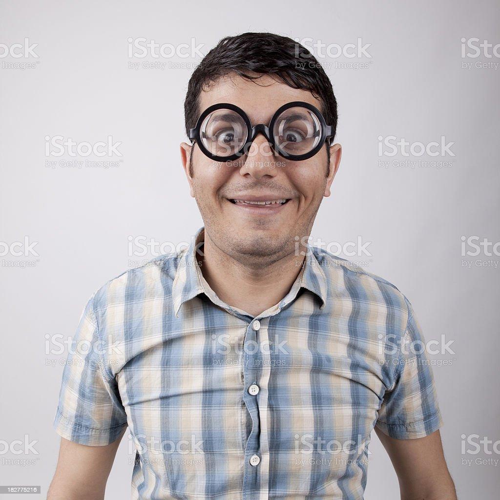 Smiling nerd guy royalty-free stock photo