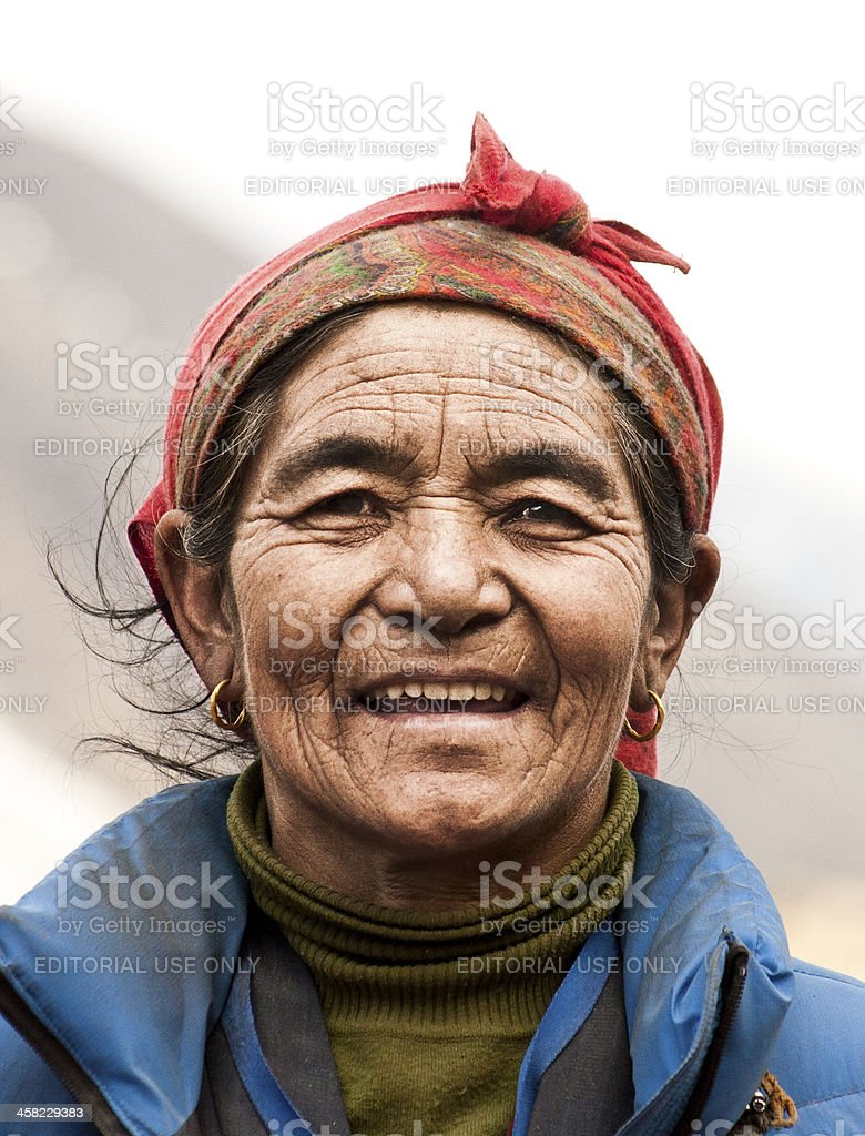Smiling Old face stock photo