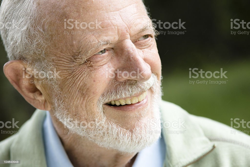 Smiling Old Man royalty-free stock photo