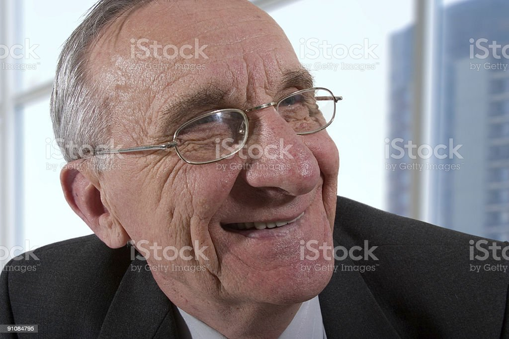 smiling old man royalty-free stock photo