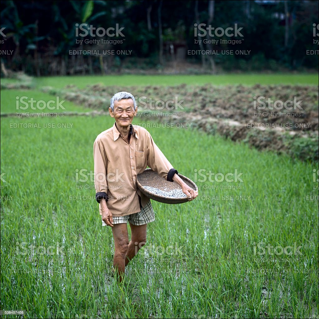 Smiling on a field stock photo
