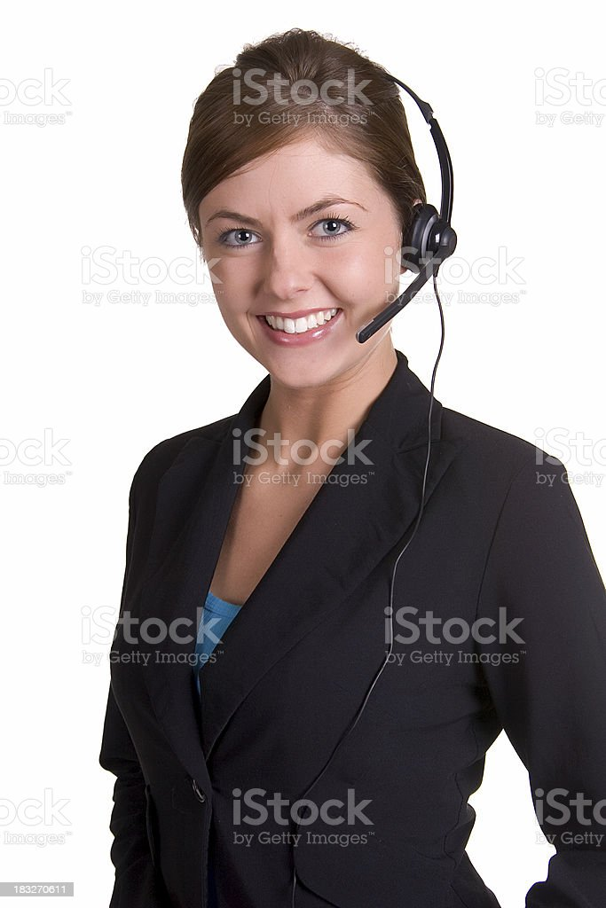Smiling Operator royalty-free stock photo
