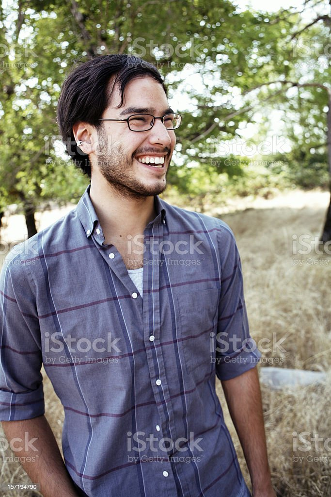 Smiling Outdoors Guy royalty-free stock photo