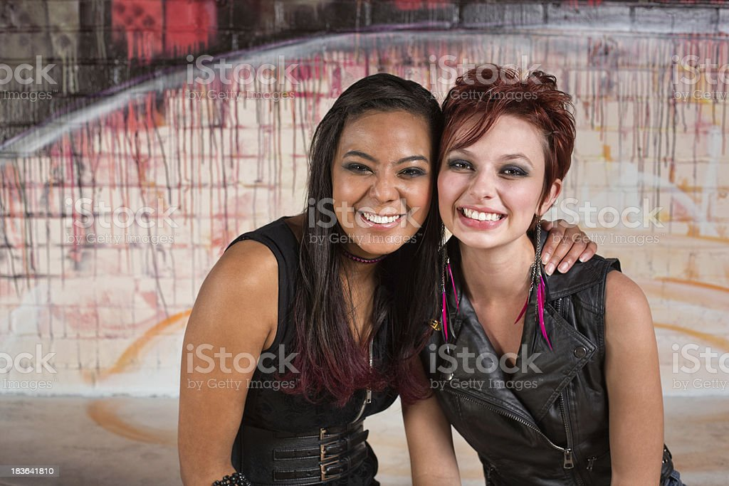 Smiling Pair of Friends royalty-free stock photo
