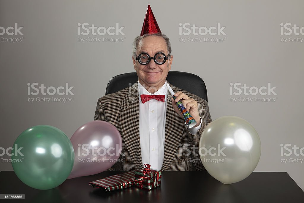 Smiling Party Man royalty-free stock photo