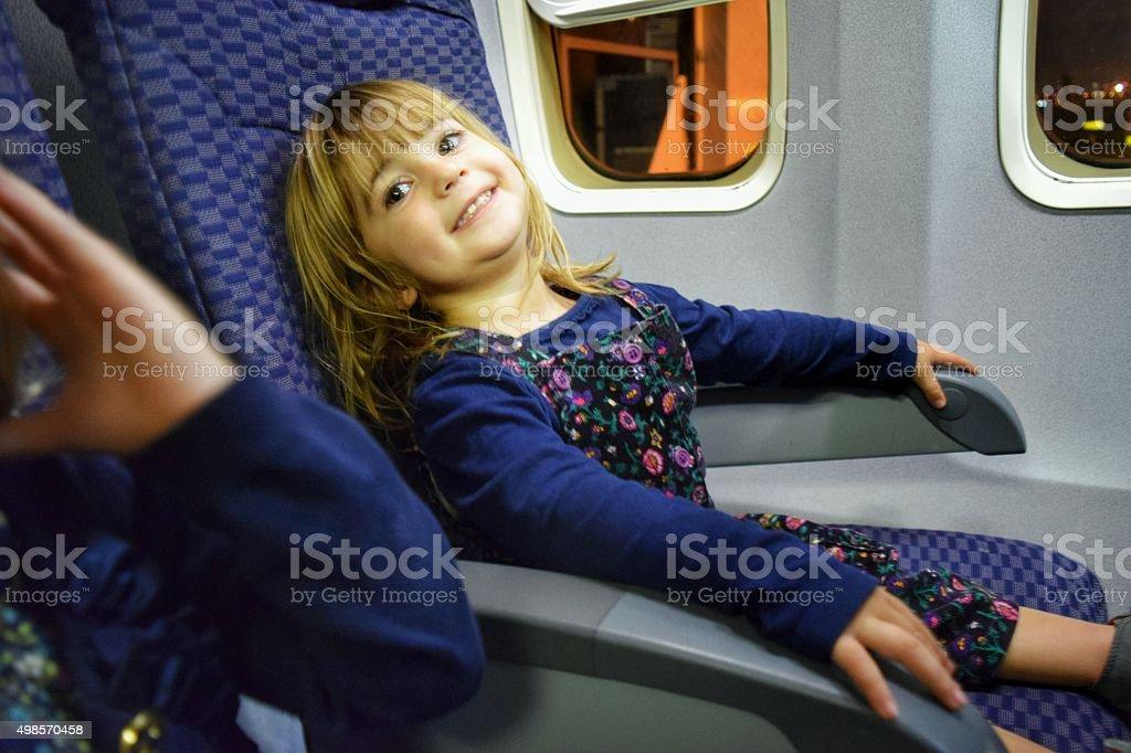 Smiling passenger stock photo