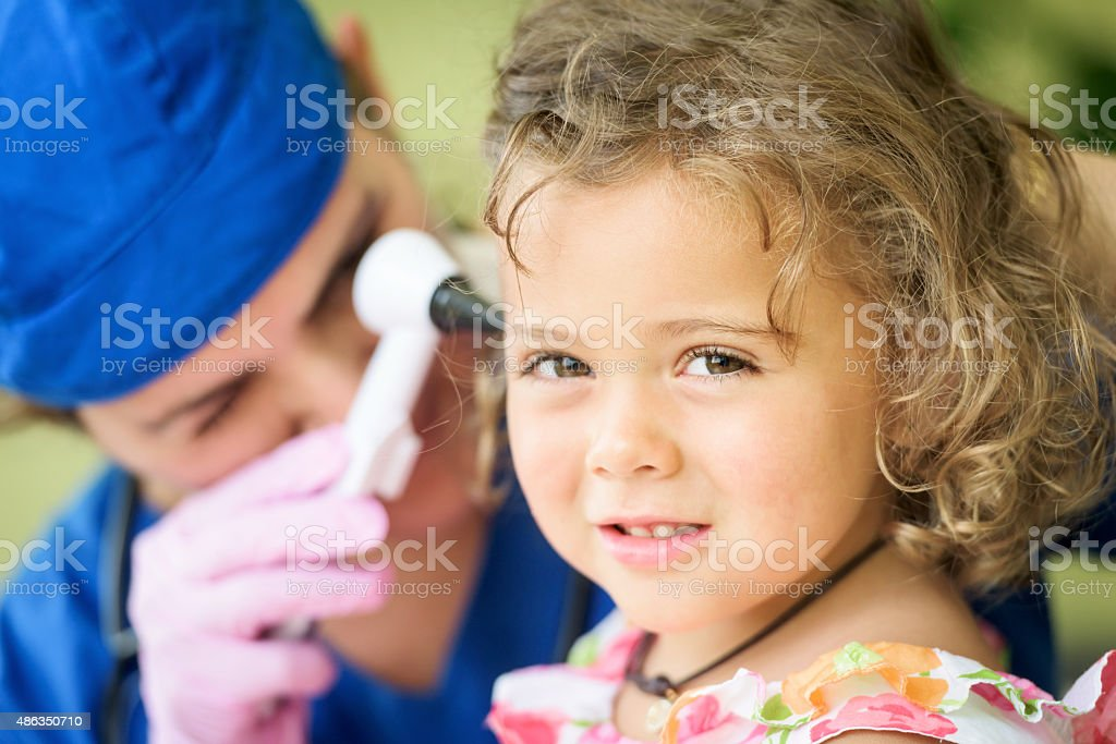 Smiling patient stock photo