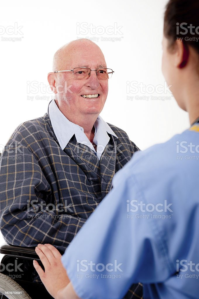 Smiling Patient With Nurse royalty-free stock photo