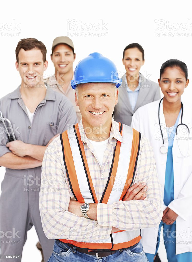 Smiling People Of Various Occupations royalty-free stock photo