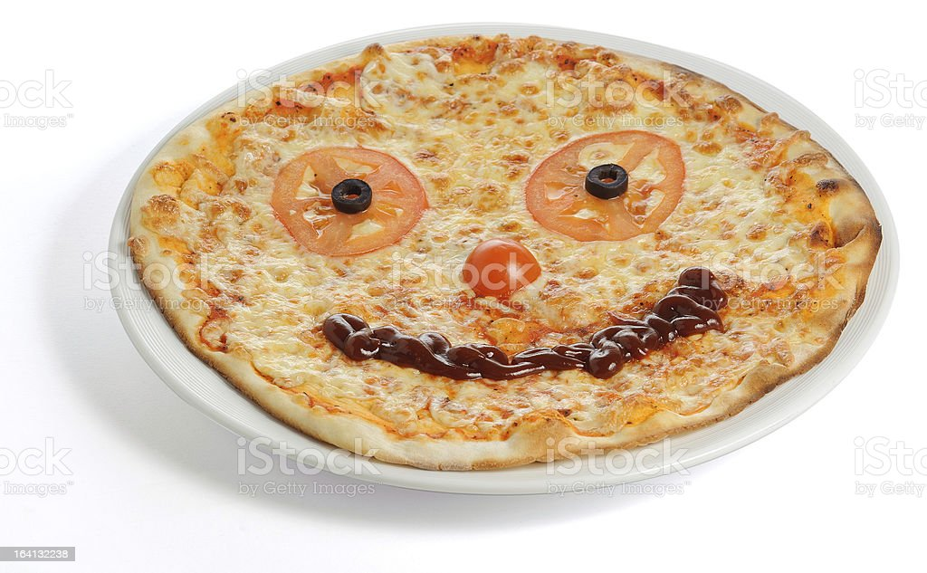 Smiling Pizza royalty-free stock photo