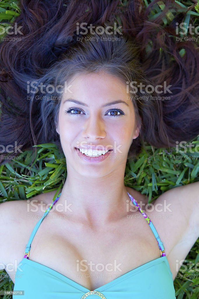 Smiling pretty young woman royalty-free stock photo