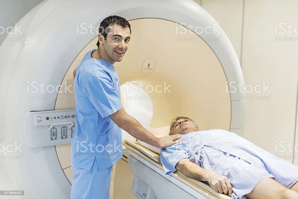 Smiling radiologist. royalty-free stock photo
