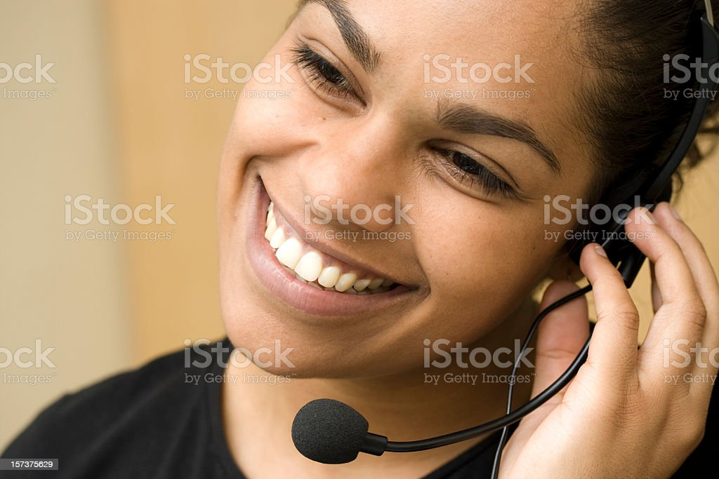 Smiling receptionist royalty-free stock photo