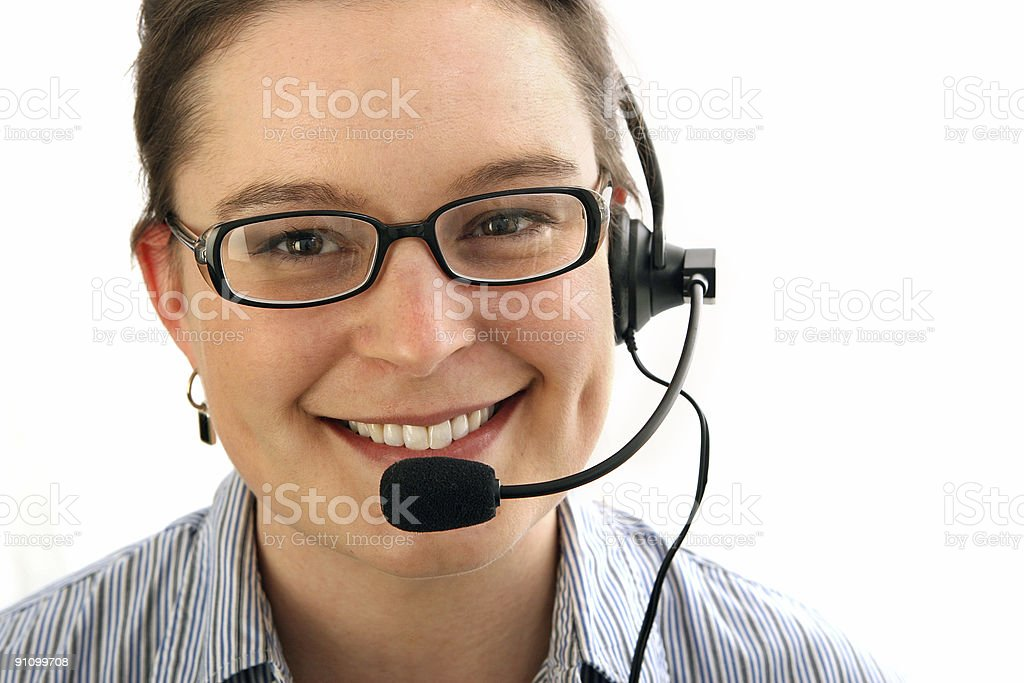 Smiling receptionist. royalty-free stock photo
