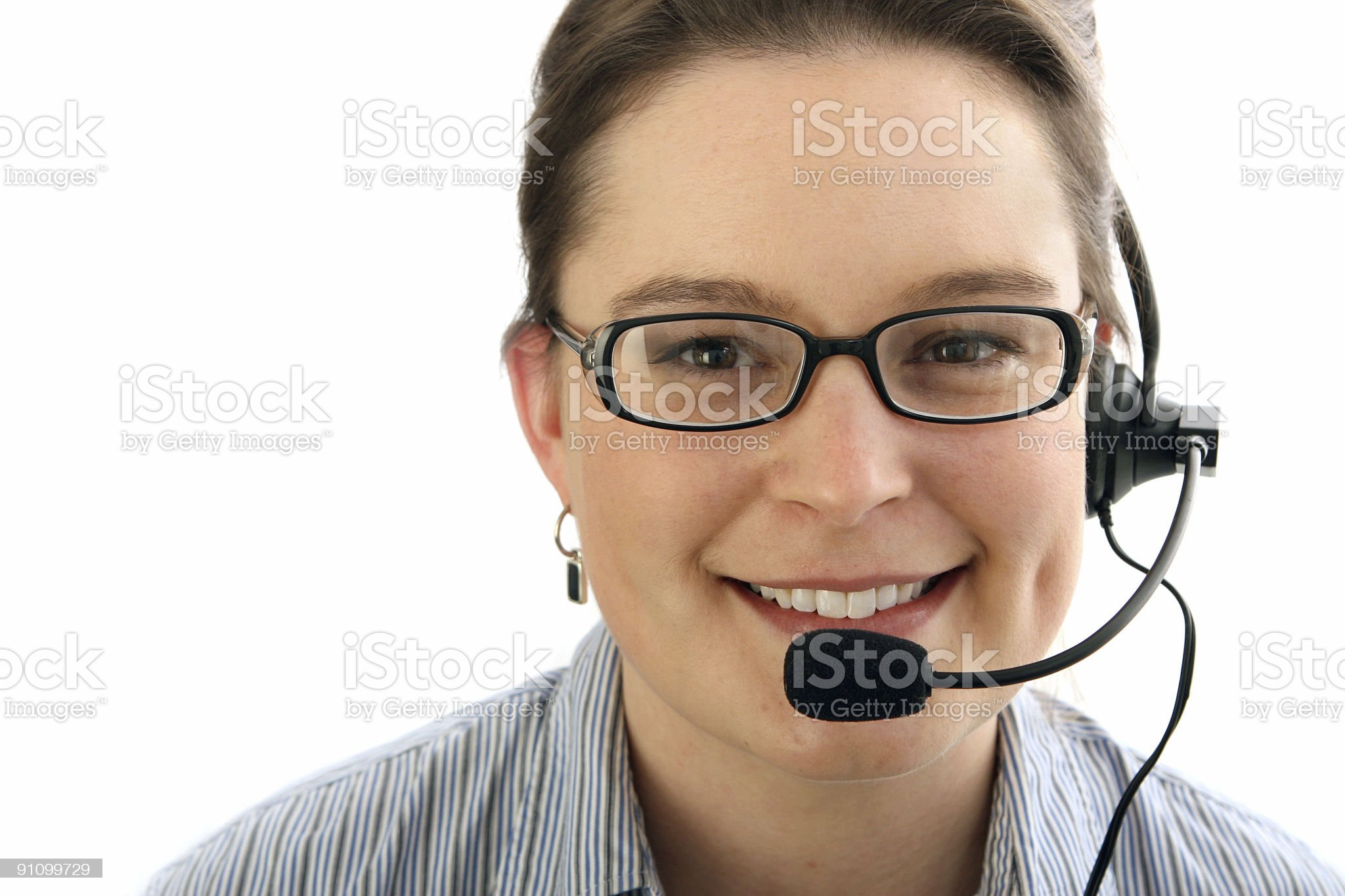 Smiling receptionist - right. royalty-free stock photo