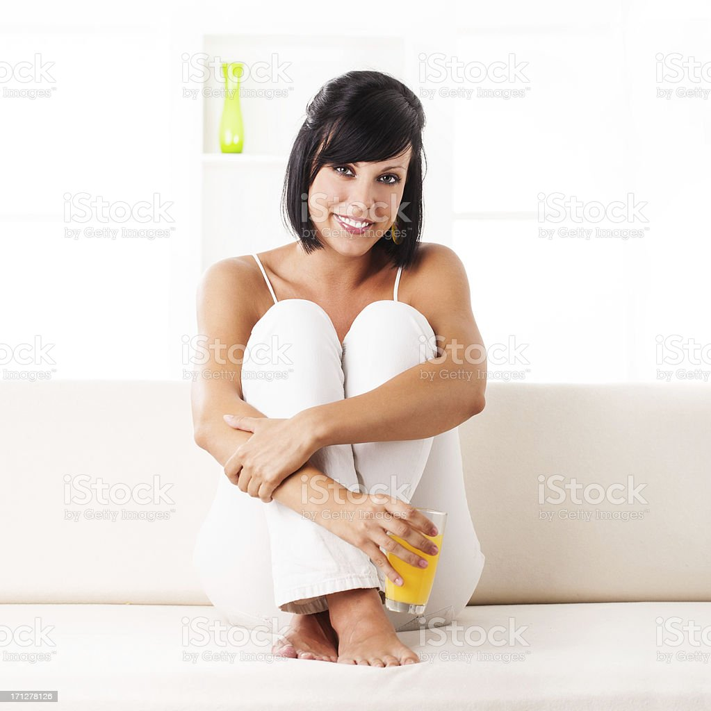 Smiling relaxed girl royalty-free stock photo