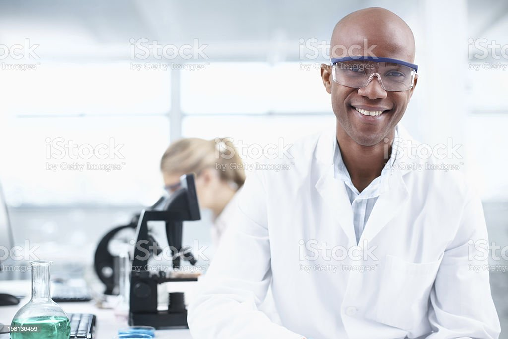 Smiling researcher royalty-free stock photo