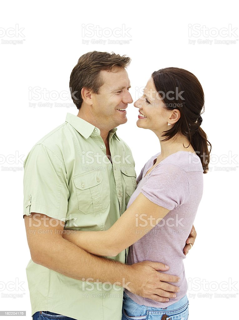 Smiling romantic mature couple royalty-free stock photo