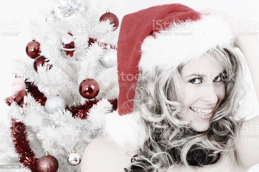 Smiling santa royalty-free stock photo